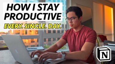 How I Stay Productive as a 6 Figure Entrepreneur: Notion Workflow