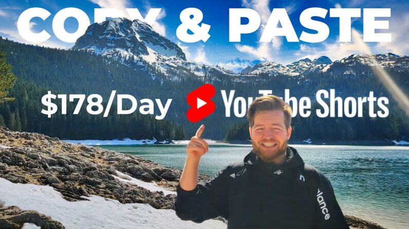 Copy & Paste YouTube Shorts And Earn $178 Per Day (Step by Step Tutorial)