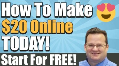 How To Make $20 Dollars Online   How To Make Money Online