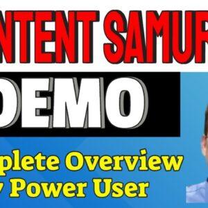 Content Samurai Review Tutorial | Complete Walkthrough of Content Samurai