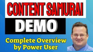 Content Samurai Review Tutorial   Complete Walkthrough of Content Samurai